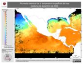 Promedio mensual de la Temperatura Superficial del Mar Nocturna de diciembre de 2009