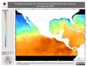 Promedio mensual de la Temperatura Superficial del Mar Nocturna de marzo de 2005