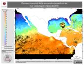 Promedio mensual de la Temperatura Superficial del Mar Nocturna de marzo de 2010