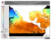 Promedio mensual de la Temperatura Superficial del Mar Nocturna de mayo de 2010