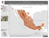 Mapa ilustrativo de Accipiter striatus (gavilán pecho-rufo) usando sitios con y sin clima extremo. Distribución Potencial