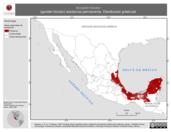 Mapa ilustrativo de Accipiter bicolor (gavilán bicolor) residencia permanente. Distribución potencial.