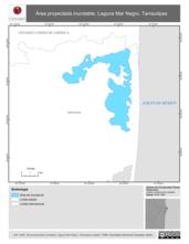 Mapa ilustrativo de Área proyectada inundable. Laguna Mar Negro, Tamaulipas.