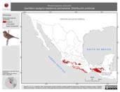 Mapa ilustrativo de Amaurospiza concolor (semillero azulgris) residencia permanente. Distribución potencial.