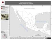 Mapa ilustrativo de Ambystoma mexicanum (ajolote). Distribución potencial. La proyección citada, es exclusiva para el diseño de esta imagen.
