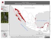 Mapa ilustrativo de Ardea herodias (garza morena) verano. Distribución potencial.
