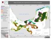Mapa ilustrativo de Áreas de Interés para la Generación de Corredores Biológicos, 2012.