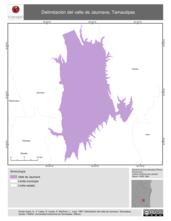 Mapa ilustrativo de Delimitación del valle de Jaumave, Tamaulipas