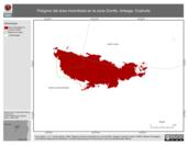 Mapa ilustrativo de Polígono del área incendiada en la zona Zorrillo, Arteaga, Coahuila