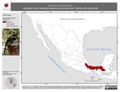 Mapa ilustrativo de Arremon aurantiirostris (rascador pico naranja) residencia permanente. Distribución potencial.