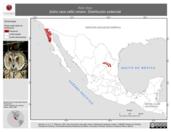 Mapa ilustrativo de Asio otus (búho cara café) verano. Distribución potencial.