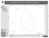 Mapa ilustrativo de Áreas urbanas. Reserva de la Biosfera Sierra de Tamaulipas