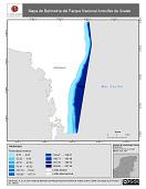 Mapa ilustrativo de Mapa de Batimetría del Parque Nacional Arrecifes de Xcalak