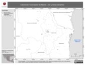 Mapa ilustrativo de Cabeceras municipales de Nuevo León y áreas aledañas