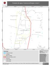 Mapa ilustrativo de Cuerpos de agua. Cuenca de Burgos, zona II