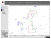 Mapa ilustrativo de Cuerpos de agua de la Reserva de la Biosfera Calakmul, Campeche