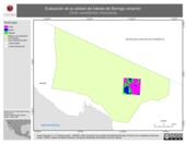 Mapa ilustrativo de Evaluación de la calidad del hábitat del Borrego cimarrón (Ovis canadensis mexicana)