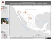 Mapa ilustrativo de Calamospiza melanocorys (gorrión ala blanca) usando sitios con y sin clima extremo. Distribución Potencial