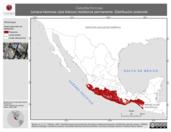 Mapa ilustrativo de Calocitta formosa (urraca-hermosa cara blanca) residencia permanente. Distribución potencial.