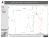Mapa ilustrativo de Rodadas del ejido Xkanha, municipio Hopelchén, Campeche