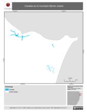 Mapa ilustrativo de Canales en el municipio Benito Juárez
