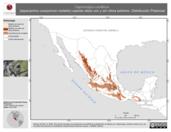Mapa ilustrativo de Caprimulgus vociferus (tapacamino cuerporruín norteño) usando sitios con y sin clima extremo. Distribución Potencial