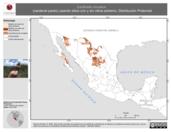 Mapa ilustrativo de Cardinalis sinuatus (cardenal pardo) usando sitios con y sin clima extremo. Distribución Potencial