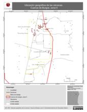 Mapa ilustrativo de Ubicación geográfica de las cárcavas. Cuenca de Burgos, zona II