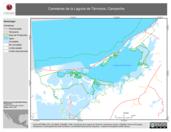 Mapa ilustrativo de Carreteras de la Laguna de Términos, Campeche