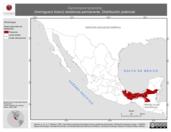Mapa ilustrativo de Cercomacra tyrannina (hormiguero tirano) residencia permanente. Distribución potencial.