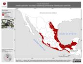 Mapa ilustrativo de Ceryle torquatus (martín-pescador de collar) residencia permanente. Distribución potencial.