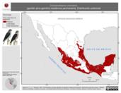 Mapa ilustrativo de Chondrohierax uncinatus (gavilán pico-gancho) residencia permanente. Distribución potencial.
