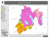 Mapa ilustrativo de Climas del estado de México