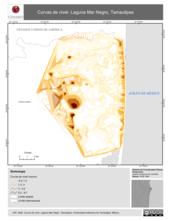 Mapa ilustrativo de Curvas de nivel. Laguna Mar Negro, Tamaulipas.