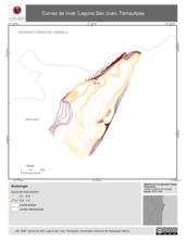 Mapa ilustrativo de Curvas de nivel. Laguna San Juan, Tamaulipas.