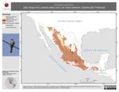 Mapa ilustrativo de Contopus pertinax (pibí tengo frío) usando sitios con y sin clima extremo. Distribución Potencial