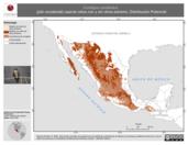 Mapa ilustrativo de Contopus sordidulus (pibí occidental) usando sitios con y sin clima extremo. Distribución Potencial