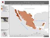 Mapa ilustrativo de Corvus corax (cuervo común) usando sitios con y sin clima extremo. Distribución Potencial