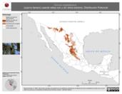 Mapa ilustrativo de Corvus cryptoleucus (cuervo llanero) usando sitios con y sin clima extremo. Distribución Potencial