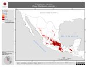 Mapa ilustrativo de Cratogeomys merriami (Tuza). Distribución potencial.