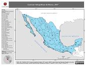 Mapa ilustrativo de Cuencas Hidrográficas de México, 2007
