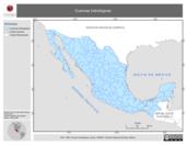 Mapa ilustrativo de Cuencas Hidrológicas (CNA)