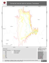 Mapa ilustrativo de Curvas de nivel del valle de Jaumave, Tamaulipas