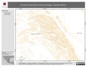 Mapa ilustrativo de Curvas de nivel para la zona de Arteaga, Coahuila, México