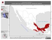 Mapa ilustrativo de Cyanerpes cyaneus (mielero pata-roja) residencia permanente. Distribución potencial.