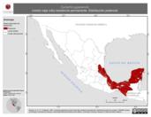 Mapa ilustrativo de Cyclarhis gujanensis (vireón ceja rufa) residencia permanente. Distribución potencial.
