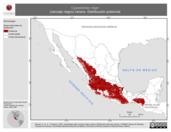 Mapa ilustrativo de Cypseloides niger (vencejo negro) verano. Distribución potencial.