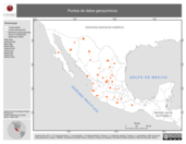 Mapa ilustrativo de Puntos de datos geoquímicos