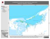 Mapa ilustrativo de Localización de puntos de observación en campo de la Laguna de Términos, Campeche