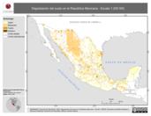 Mapa ilustrativo de Degradación del suelo en la República Mexicana - Escala 1:250 000.